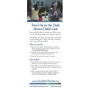Don't be in the Dark About Child Care tip card (English)
